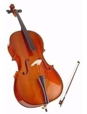 Violoncello 1/4 Estudio Pino + Funda Arco Stradella Mc601114