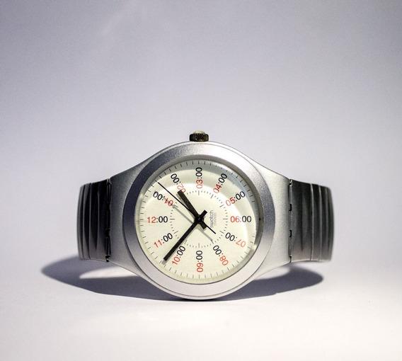 Swatch Irony Aluminio Unisex Pulseira Elastica Frete Gratis