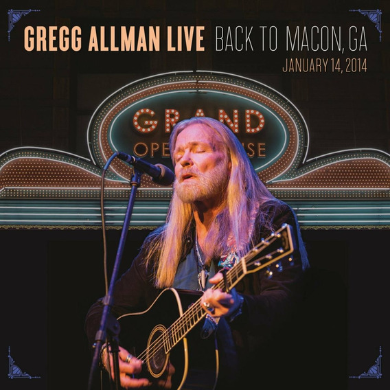 Greg Allman Live - Back To Macon, Ga (2 Cd + 1 Blu Ray)
