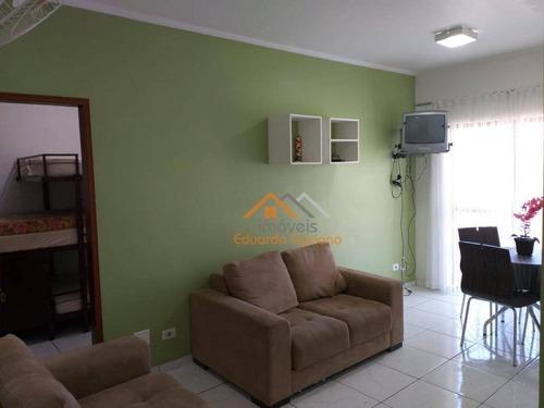 Apartamento Com 1 Dormitório À Venda, 51 M² Por R$ 203.000,00 - Praia Cocanha - Caraguatatuba/sp - Ap0223