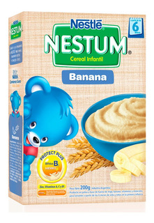Nestum Cereal Infantil Con Banana +6m X 200 Gr