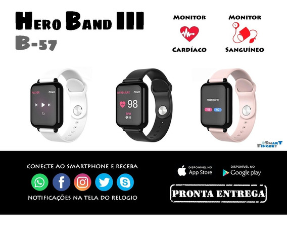 Smart Watch B57 Hero Band 3 Pressão Arterial E Cardiaca