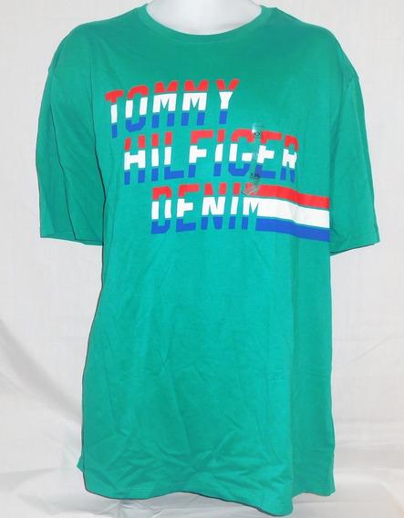 Tommy Hilfiger Denim Camiseta Masculina Original Etiqueta