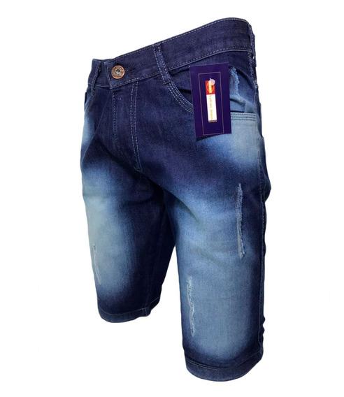 Kit 3 Bermudas Jeans + 3 Calças Jeans Skinny F. Grátis C/ Nf