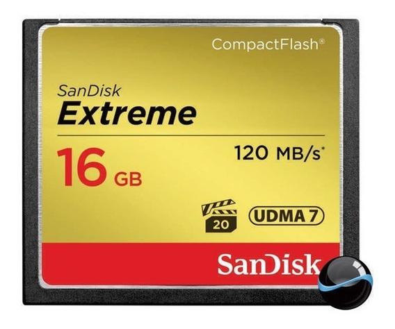 Cartão Memória Compact Flash Cf 16gb Sandisk Extreme 120mb/s