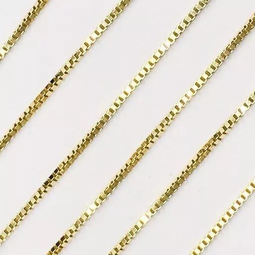 Cordão Corrente Gargantilha Ouro18k Feminino Veneziana 45cm