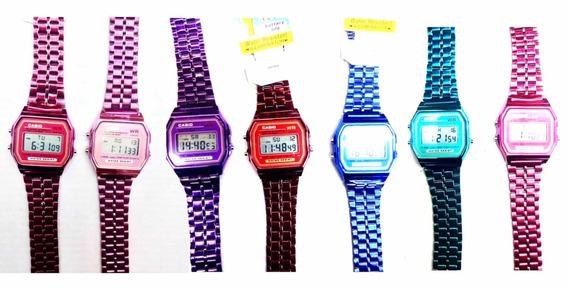 Lote 30 Relojes A168 Logo Metal Colores Luz Envio Gratis Rmx