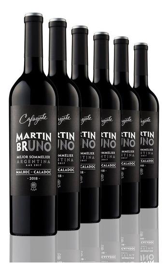 Caja De 6 Botellas Vino Cafayate Martín Bruno Malbec Caladoc