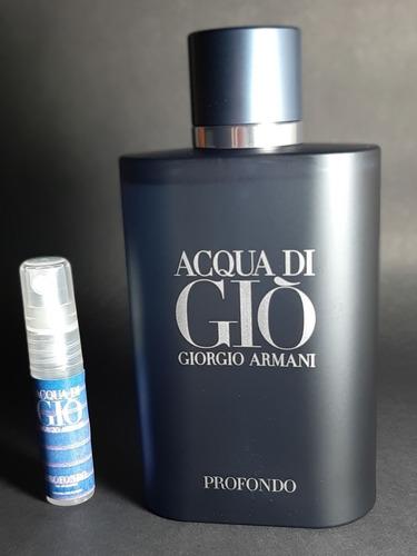 Imagen 1 de 1 de Muestra Decant 5 Ml Acqua Di Gio Profondo Giorgio Armani