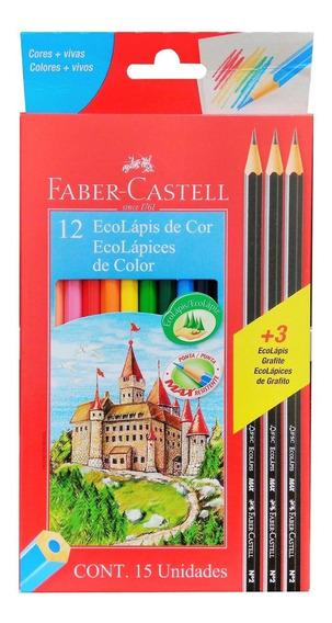 Lápis De Cor Com 12 Ecolápis Faber Castell - Shop Tendtudo