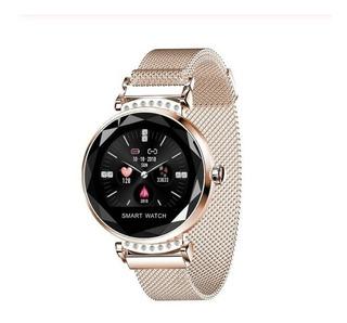 Relógio Inteligente Pulseira De Fitness Atividade Dourado