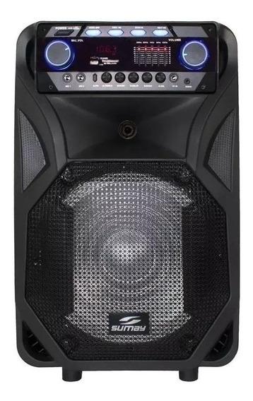 Caixa de som Sumay Thunder Black portátil sem fio Preto 110V/220V