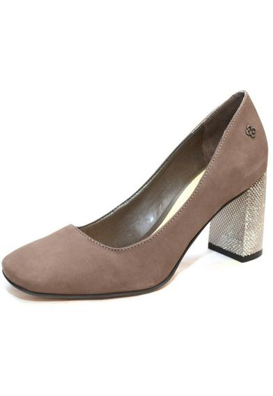 Zapato De Mujer Cuero Con Taco - 4010337 Cuotas S/ Interes