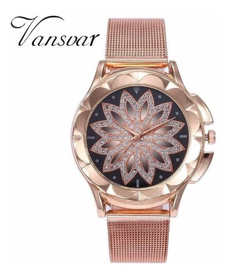Relógio Feminino Vansvar Rose