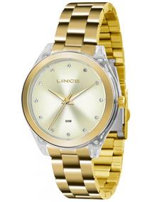 Relógio Lince Feminino Dourado Lrg4431p C1kx