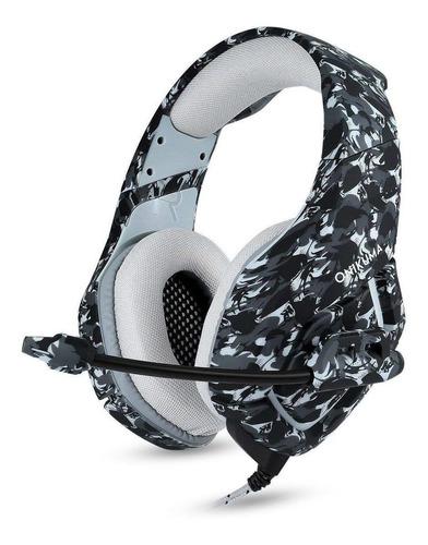 Fone de ouvido gamer Onikuma K1-B camouflage gray