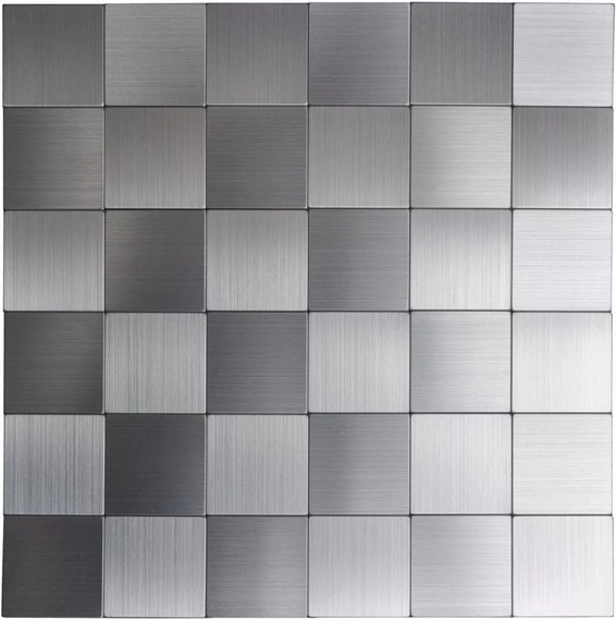 Guardas Mosaicos Venecitas Azulejos Acero Inoxidable 5x30