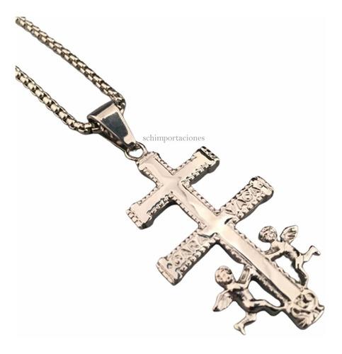 Nuevo Colgante Cruz De Caravaca - Acero - Exclusivo Original