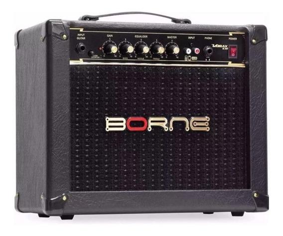 Amplificador Borne Vorax 630 Combo 25w Preto E Dourado 110v/