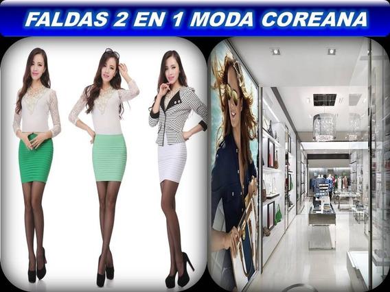Falda Corte Recto Con Olanes Casual Unitalla M 28-34 Precio $399. Antes $499.00