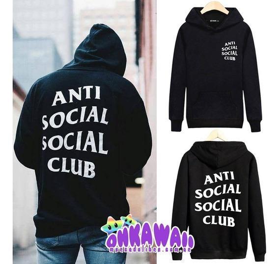 Antisocial Club - Buzo Canguro Unisex Capucha - Hip Hop Kpop