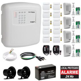 Kit Alarme Residencial Comercial Completo Sem Fio 14 Sensor