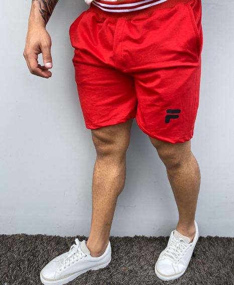 Short De Algodón Fila Rojo, Unitalla (abarca Hasta Talla 36)