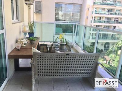 Apartamento Com 2 Dormitórios À Venda, 100 M² Por R$ 1.050.000 - Barra Da Tijuca - Rio De Janeiro/rj - Ap1306