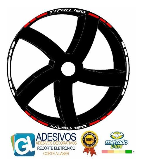 Adesivo Friso Faixa Rodão Moto Roda Titan 160 / 150 Tuning
