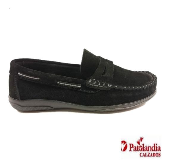Zapatos Klivers Mocasin Nautico Unisex Negro/ Coco N° 19/26