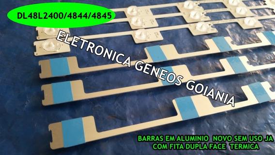 Kit12 Barra Led Aluminio Dl4845 Dl4844 48l5400 48l2400 Konka