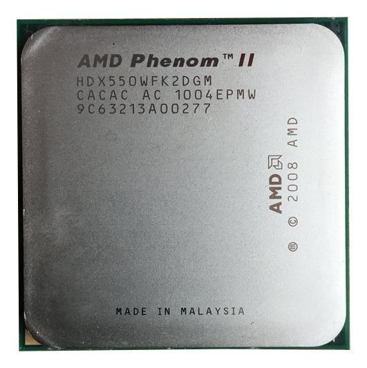 Processador AMD Phenom II X2 550 (rev. C3) HDX550WFK2DGM de 2 núcleos e 3.1GHz de frequência