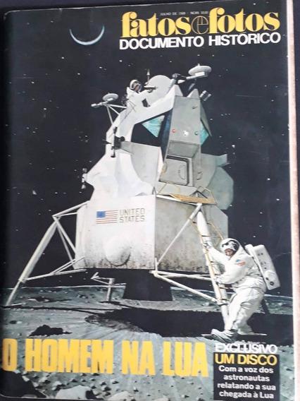 Fatos E Fotos - Documento Histórico- O Homem Na Lua L.2124
