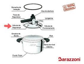 Válvula Segurança Panela Pressão Inox Barazzoni 5/7/9l