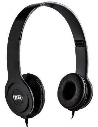 Headfone P2 Stereo Tda Preto Dobravel