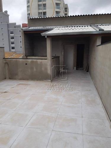 Cobertura Com 2 Dormitórios À Venda, 70 M² Por R$ 500.000,00 - Campestre - Santo André/sp - Co3972