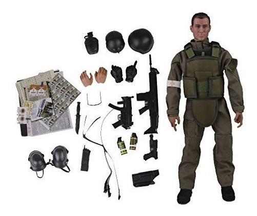 Figura Soldado Militar 1/6 Gi Joe 12 Pulgadas Verde Olivo