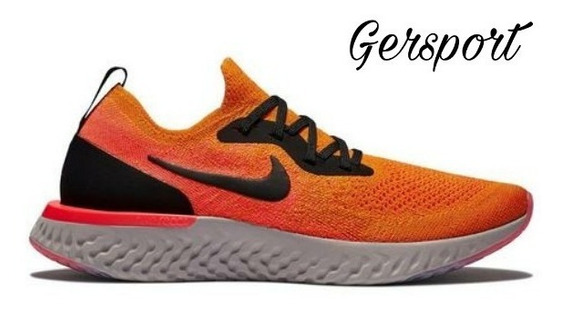 Zapatillas Nike Epic React Flyknit Mujer Naranja