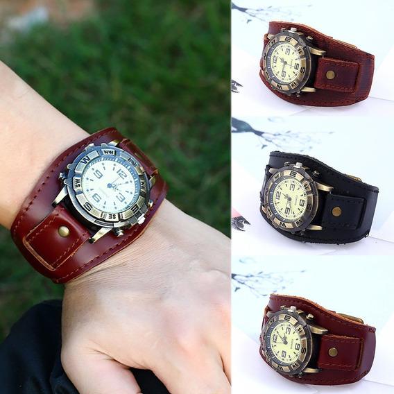 Relógio Grande De Alta Qualidade,estilo Chilie Beans Couro