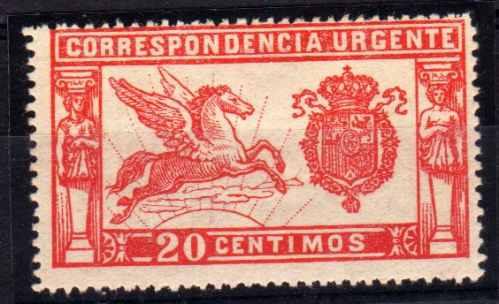Estampilla España Expreso Numero 1 Año 1905 65 Euro Catalogo