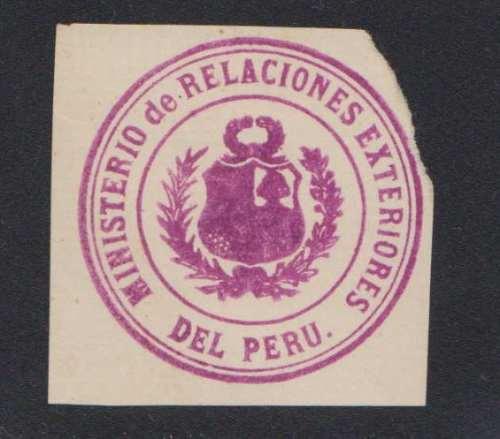 Peru Antiguo Y Curioso Sello De Cierre De Sobres