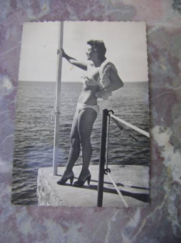 Tarjeta Postal Erotica Años 50