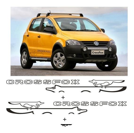 Kit Faixa Adesivo Lateral Crossfox Modelo Raposa Fox Volks