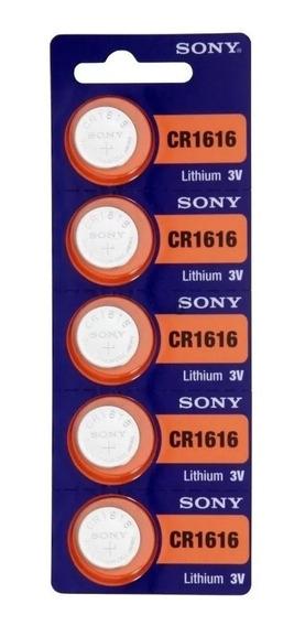 Cartela 5 Bateria Botão Lithium Sony Cr1616 3v Cód-1331