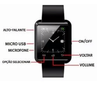 Relógio Smartwatch U8 Bluetooth Para Celular iPhone Android