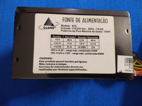 Fonte De Alimentação Clone Atx 700w 115/230 Vac- 60hz- 7a/4a