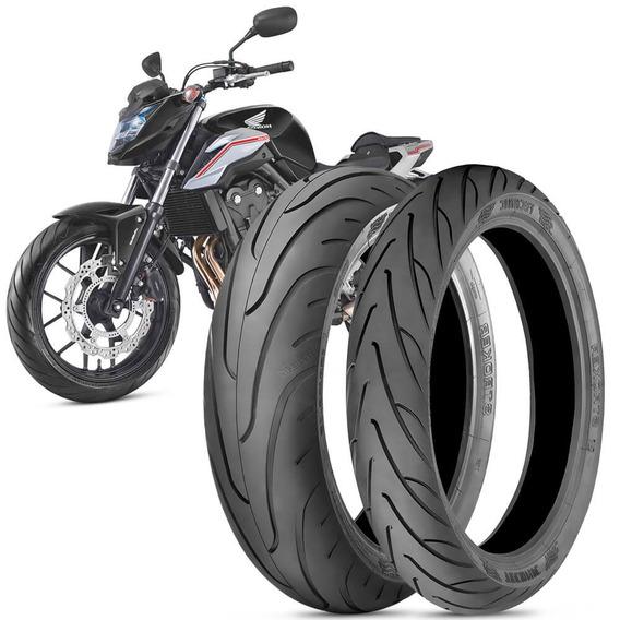 2 Pneu Moto Honda Cb500f 160/60-17 69v 120/70-17 58v Stroker