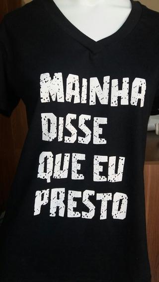 Camisa Camiseta Blusa Gola V 100% Algodão Unisex