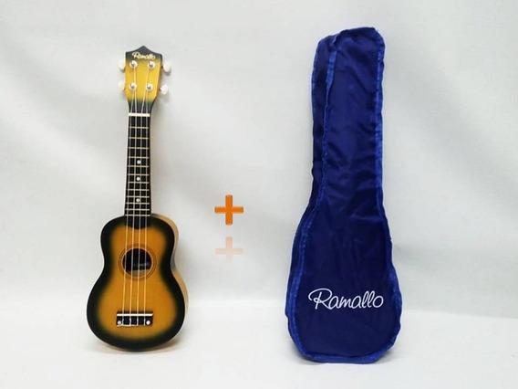 Ukelele Soprano Ramallo Color Sunburst + Funda De Regalo