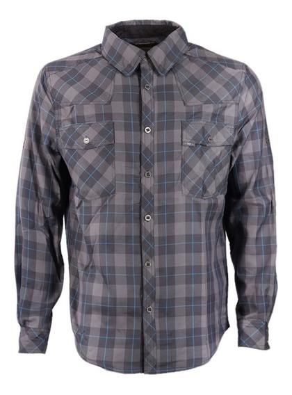Camisa Hombre Mountain Towns Shirt L/s Grafito Lippi